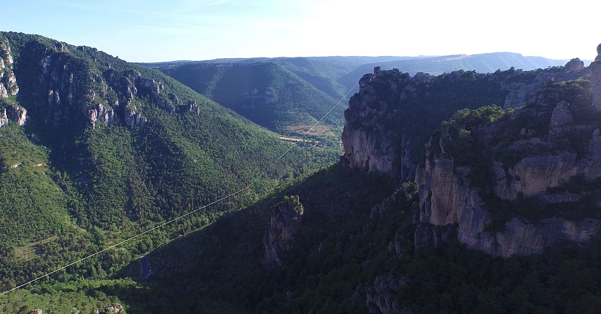 Image aérienne par drone des Gorges de la Jonte