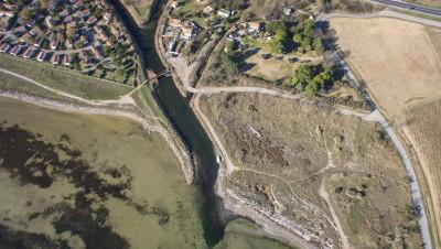 Image aérienne pour les études environnementales et écologiques.