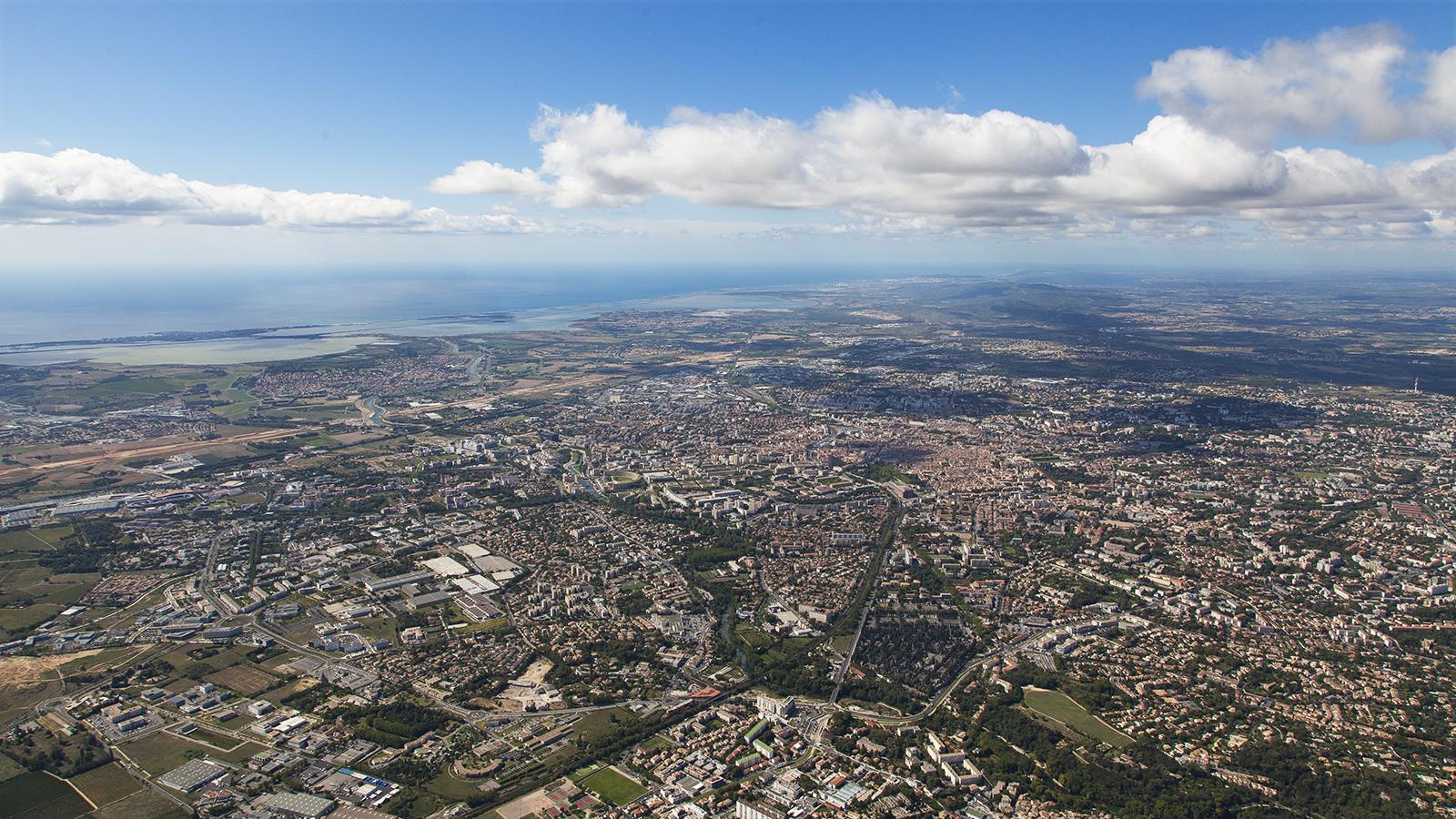 vidéo aérienne par drone à Montpellier