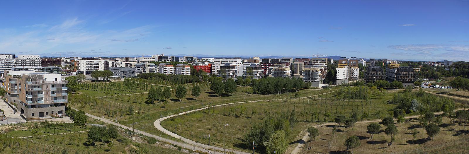 Dans la poursuite de la requalification de l'avenue Raymond Dugrand et des aménagements du quartier Parc Marianne, la Ville de Montpellier lance la réalisation d'un miroir d'eau à l'entrée du Parc Georges Charpak.