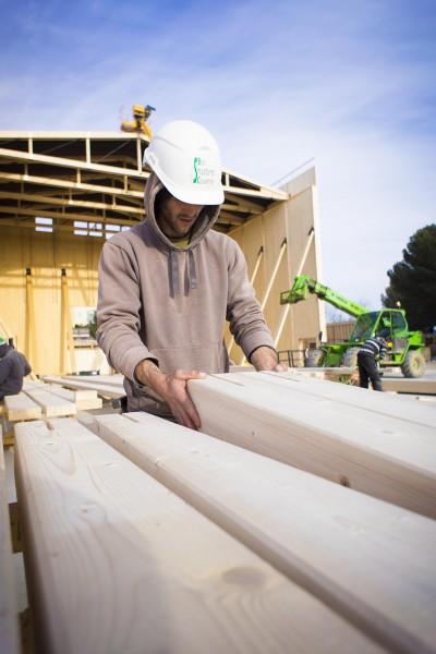 Reportage photo du suivi de chantier de la salle de spectacle Jean claude Carrière, au domaine d'ô, Montpellier.
