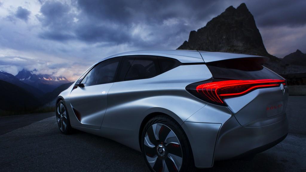 Photographie industrielle et publicitaire. Photographie pour le concept Car Renault. EOLAB Renault. © Dronestudio
