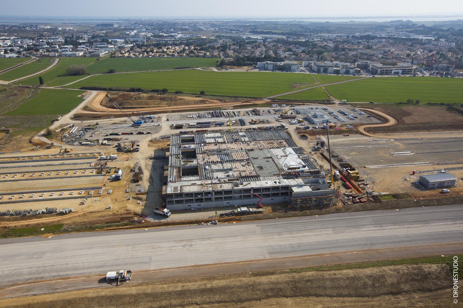 Photographie aérienne Gare Montpellier
