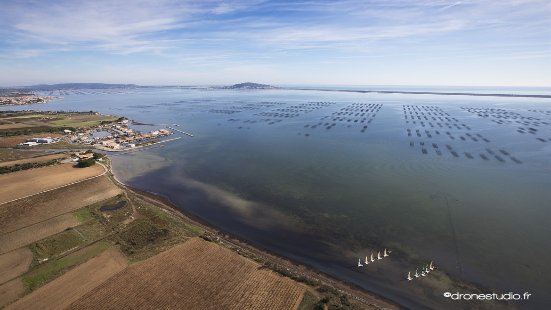 Image aérienne du bassin de Thau