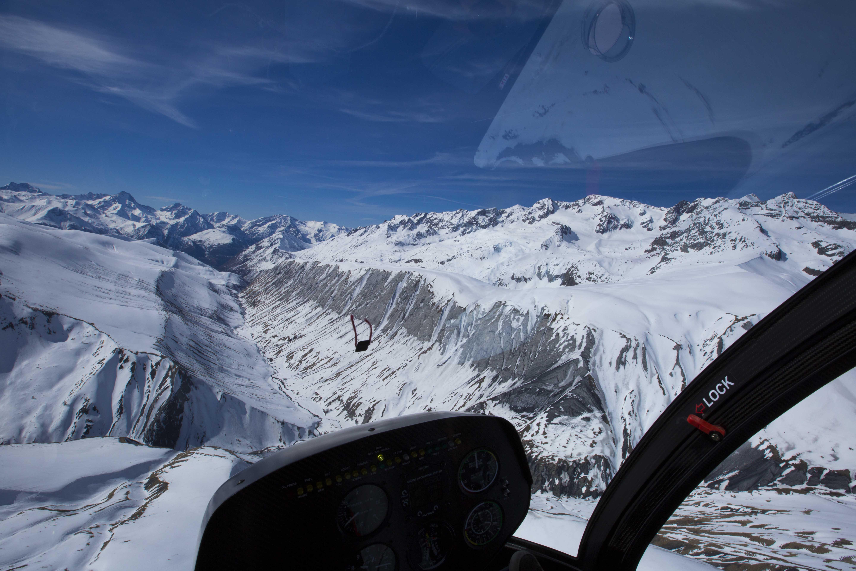 Vue alpes hélicoptère