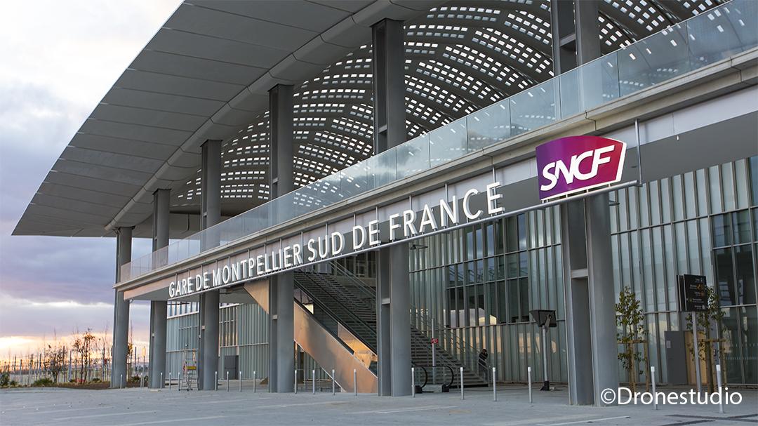 Gare de Montpellier Sud de France.